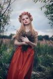 Romantic blond woman Royalty Free Stock Image