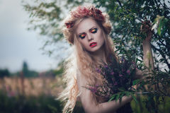 Romantic blond woman Royalty Free Stock Photos