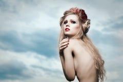 Romantic blond woman Royalty Free Stock Photo