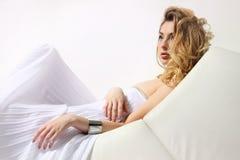 Romantic blonde Stock Image
