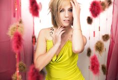 Romantic blonde beauty Stock Image