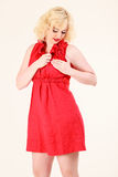 Romantic blonde woman royalty free stock images