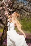 Romantic blonde woman royalty free stock photos