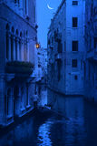Romantic blue night in Venice - Italy Stock Image