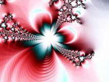 Romantic Blue and Red Star Abstract. Background Fractal wallpaper Royalty Free Stock Photo
