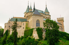 Romantic Bojnice Castle, Slovakia. A romantic look of the beautiful gothic-renaissance castle in Slovakia stock photo