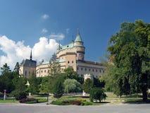 Romantic Bojnice castle, Slovakia Royalty Free Stock Images