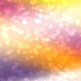 Romantic bokeh. Background for Valentine's cards Stock Images