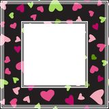 Valentines border-03. Romantic border with hearts. Valentines Day illustration. Design element for photo frame and romantic decorations Vector Illustration