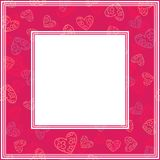 Valentines border-18. Romantic border with hearts. Valentines Day illustration. Design element for photo frame and romantic decorations vector illustration