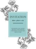 Romantic botanical invitation Royalty Free Stock Photo