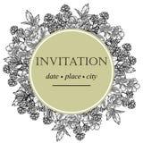 Romantic botanical invitation Stock Photography