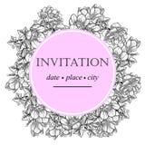 Romantic botanical invitation Royalty Free Stock Photos