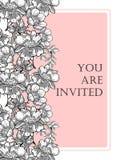 Romantic botanical invitation Royalty Free Stock Images