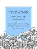 Romantic botanical invitation Stock Photo