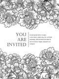 Romantic botanical invitation Royalty Free Stock Photography