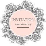 Romantic botanical invitation Stock Image