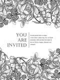 Romantic botanical invitation Royalty Free Stock Image