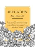 Romantic botanical invitation Stock Photos