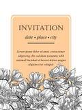 Romantic botanical invitation Stock Images
