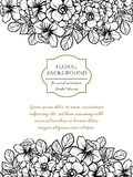 Romantic botanical invitation Stock Photo