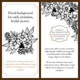 Romantic botanical invitation Stock Images