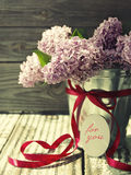 Romantic bouquet of a lilac Stock Photo