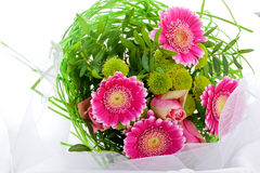 Romantic bouquet of pink flowers Royalty Free Stock Photos