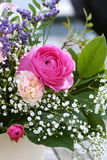 Romantic bouquet with pink roses Royalty Free Stock Photo