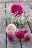 Romantic bouquet with pink roses Royalty Free Stock Image