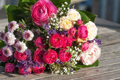 Romantic bouquet with pink roses Royalty Free Stock Images