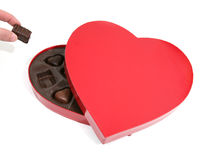 Romantic box of chocolates Stock Photo