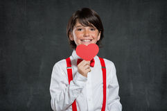 Romantic boy at Valentine's Day Royalty Free Stock Photography