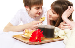 Romantic breakfast Royalty Free Stock Photography