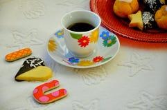 Romantic breakfast Stock Images