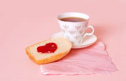Romantic breakfast stock photo