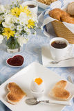 Romantic breakfast Stock Images