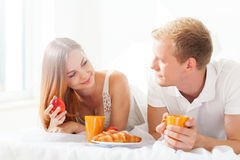 Romantic breakfast Royalty Free Stock Image