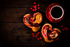 Romantic breakfast Stock Photography
