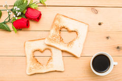 Romantic breakfast Stock Image