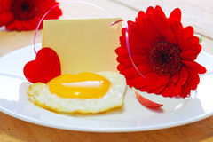 Romantic breakfast. Stock Photos