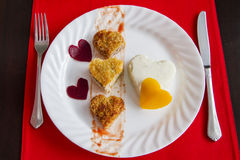 Romantic breakfast Royalty Free Stock Photo