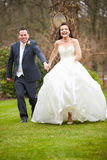 Romantic Bride And Groom On Wedding Day Royalty Free Stock Photos