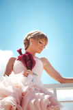 Romantic bride portrait Stock Images