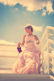 Romantic bride portrait Stock Image