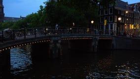 Romantic bridge over the canals of Amsterdam City of Amsterdam. Romantic bridge over the canals of Amsterdam Amsterdam Netherlands videoclip stock video