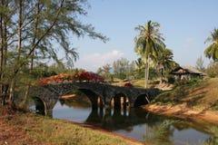 Romantic Bridge in Thailand Stock Photo
