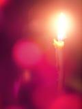 Romantic burning candle stock image