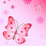Romantic butterfly background Stock Images