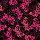 Romantic butterfly seamless pattern. Romantic butterfly seamless pattern  vector elements Stock Photos